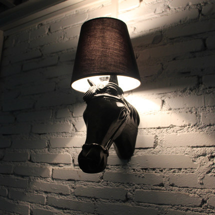 Modern fashion wall lighting black/white horse head wall lamp resin bedside wall lights AC 100-240V led bulb included<br><br>Aliexpress