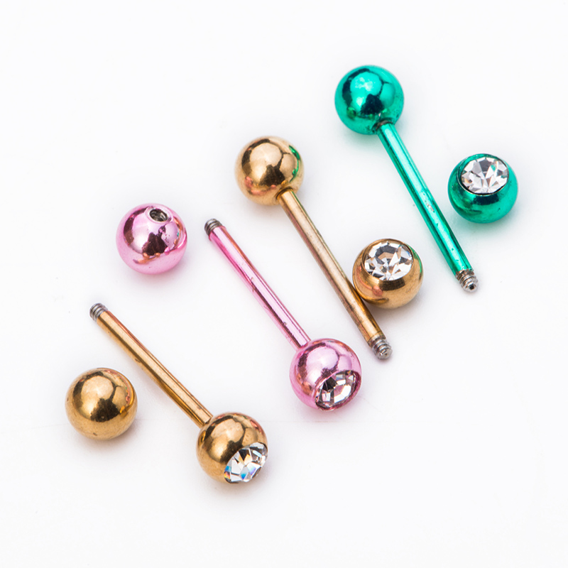stainless stell tunnels piercing jewelry tongue nail tongue ring 1.6*16*6/6MM bijouterie bone nail nipple barbell piercing(China (Mainland))