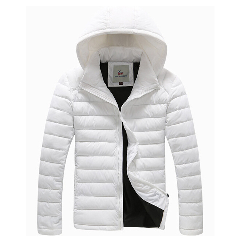 2015 Jacket Parka Men Cotton Keep Warm Fashion Solid Winter Coat Men Hooded Wadded Overcoat Casual