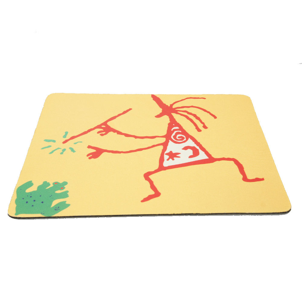 Free Shipping Durable Cartoon Little Guy Rectangle Rubber PVC Mouse Pad 2 Color Yellow Green 2015
