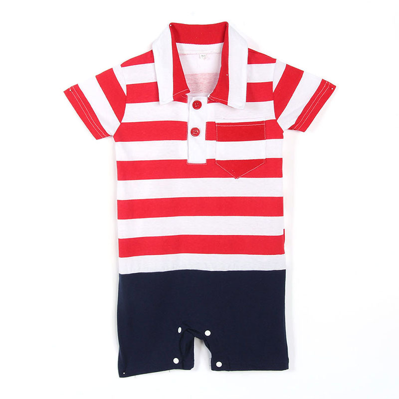 Infant boys Rompers Carters Short Sleeve Striped Newborn bebe baby clothing Hot Sale<br><br>Aliexpress