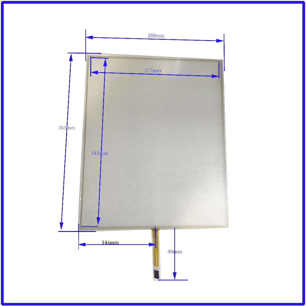 355mm*288mm 17 Inch Touch Screen panels 4 wire resistive USB touch panel overlay kit Free Shipping(China (Mainland))