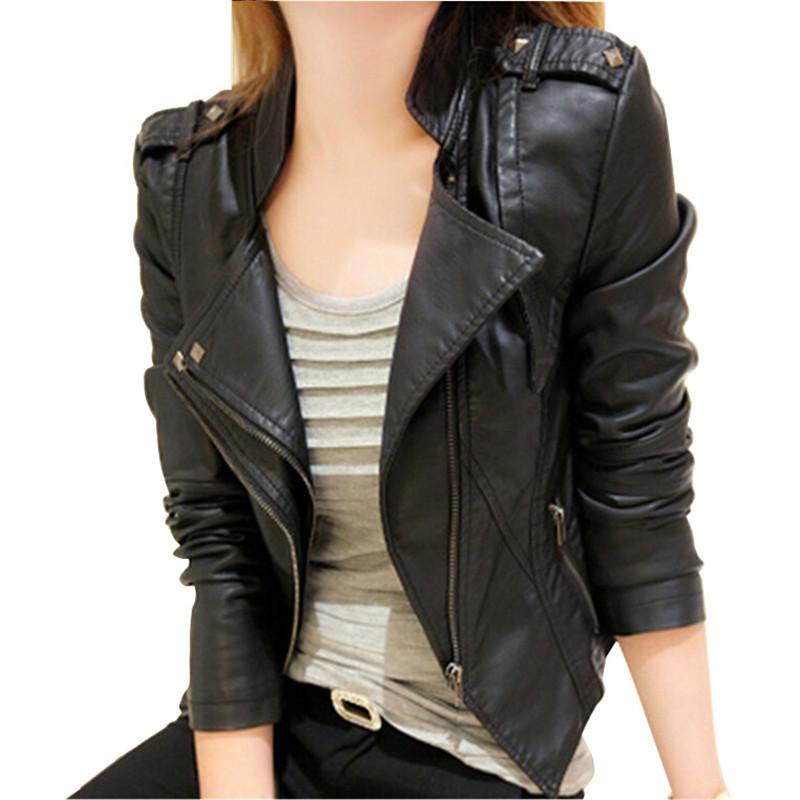 2015 Autumn Leather Jacket Women Turn-down Collar Chaquetas Mujer Casaco Feminino Short Women Jacket Coat Slim Jaqueta FemininaОдежда и ак�е��уары<br><br><br>Aliexpress