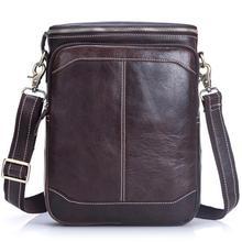 Buy 2016 Hot Men Cow Leather Messenger Bag High Genuine Leather Shoulder Bags Men Dark Brown Small Travel Shoulder Bag for $34.66 in AliExpress store