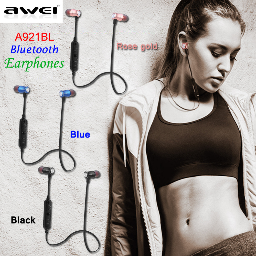 Original Awei A921BL Wireless In-Ear Sport Earphone Bluetooth 4.0 Connection with Voice Noise Reduction Mic 2016 Battery Include(China (Mainland))
