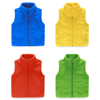 LittleSpring 2015 new thicken winter cotton vest turtleneck solid fashion baby fleece vest kids waistcoat boys girls unisex