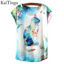 Buy KaiTingu 2016 New Fashion Vintage Spring Summer Harajuku T Shirt Women Tops Tshirt Cartoon Animal Print T-shirt Woman Clothes for $4.74 in AliExpress store