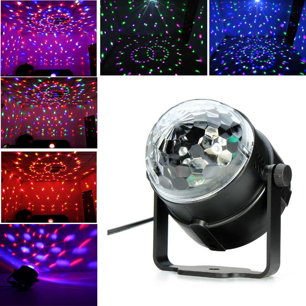 Mini RGB LED Crystal Magic Ball Stage Effect Lighting Lamp Bulb Party Disco Club DJ Light Show quick shipping(China (Mainland))