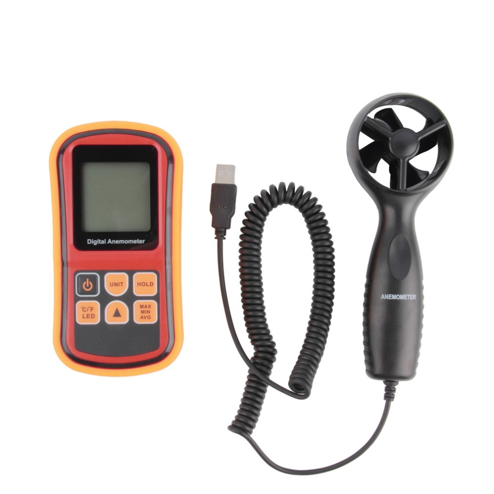 Mini Digital handheld Wind speed meter scale Anemometer Thermometer GM816A<br><br>Aliexpress