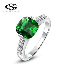 G&S Valentine's day Gift swiss CZ Platinum plating classical green ring arrow heart cuting Full set jewelry 1010017364