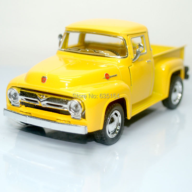Wholesale 10pcs/lot Brand New KT 1/38 Scale Pull Back Car Toys 1956 USA Ford F100 Pickup Diecast Metal Vintage Car Model Toy(China (Mainland))