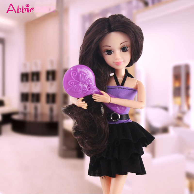 ABBIE Toys Hairdryer Girls Beauty Salon Fashion With ABBIE Doll Play Set Include Clothes Comb Set Toy Educational Doll Gift(China (Mainland))