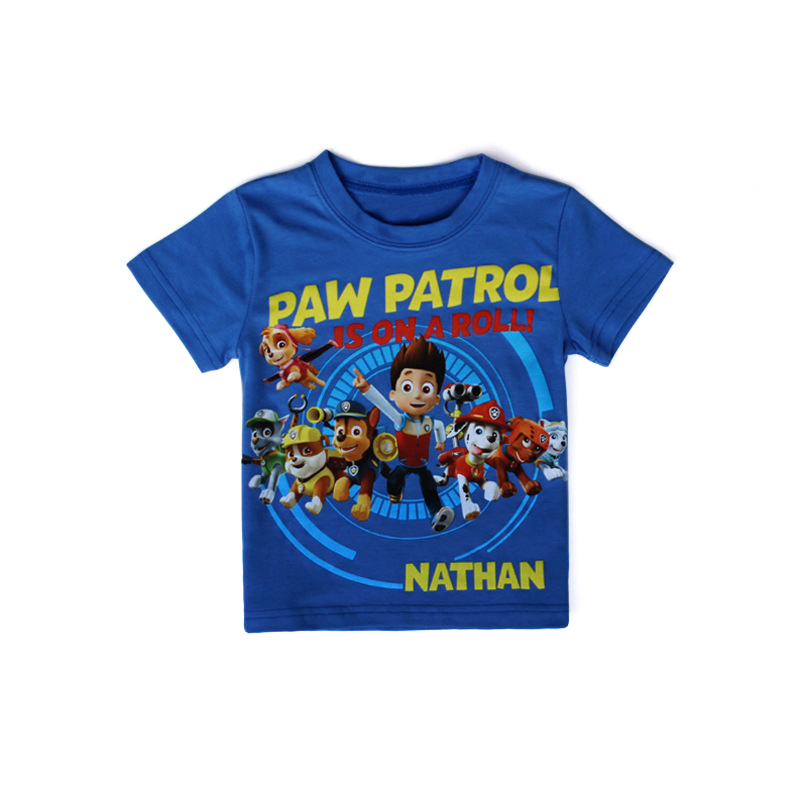 2016 summer new cartoon children t shirts boys kids t shirt designs