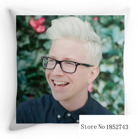 Funny cool Tyler Oakley Twitter Icon (two sides) Pillow Cases for 12 ''14''16''18'' 20''24'' inch free shipping
