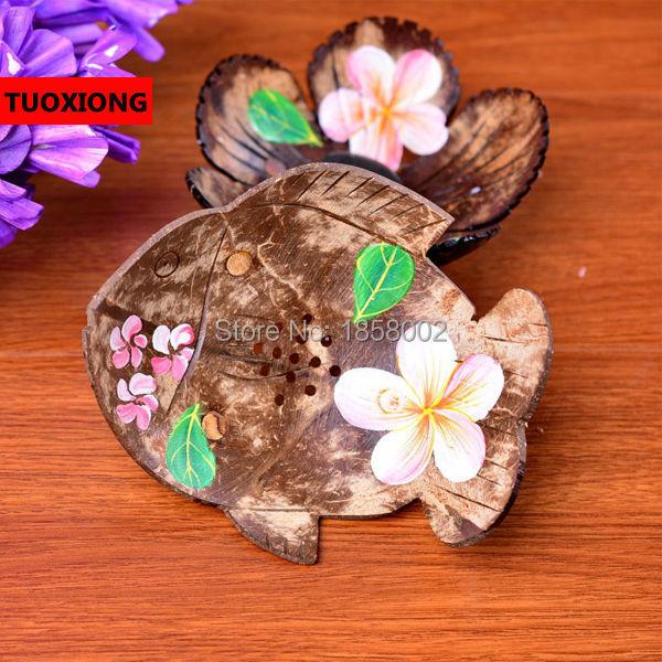 Free shipping creative coconut shell soap box, bathroom Drain soap dish, stylish bathroom soap holder Home supplies(China (Mainland))