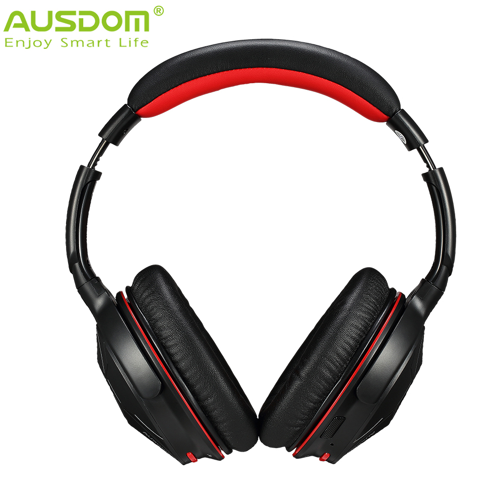 HOT Ausdom Upgrade M04S Wireless + Wired Bluetooth NFC Connection Headphone Headset with Built-in Microphone for IOS Android(China (Mainland))