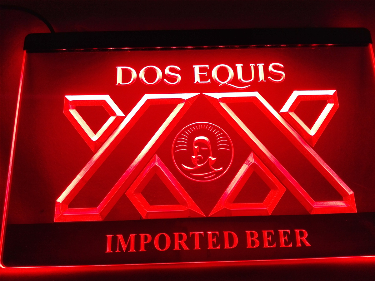 LE042- Dos Equis Beer Bar Pub Restaurant Light Sign(China (Mainland))
