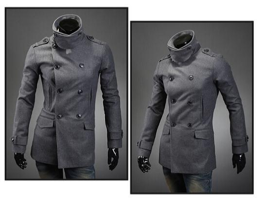 free shipping 2014 New winter dress  Man Slim Fit Clothes Warm Winter Jackets Mens Wool Blend Coat Sportswear  120Одежда и ак�е��уары<br><br><br>Aliexpress