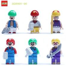 Venta al por mayor 3D1190 10 lotes de construcción bloques Super Hereos Avengers Minifigures Super Mario figuras juguetes de los ladrillos Compatible con Lego