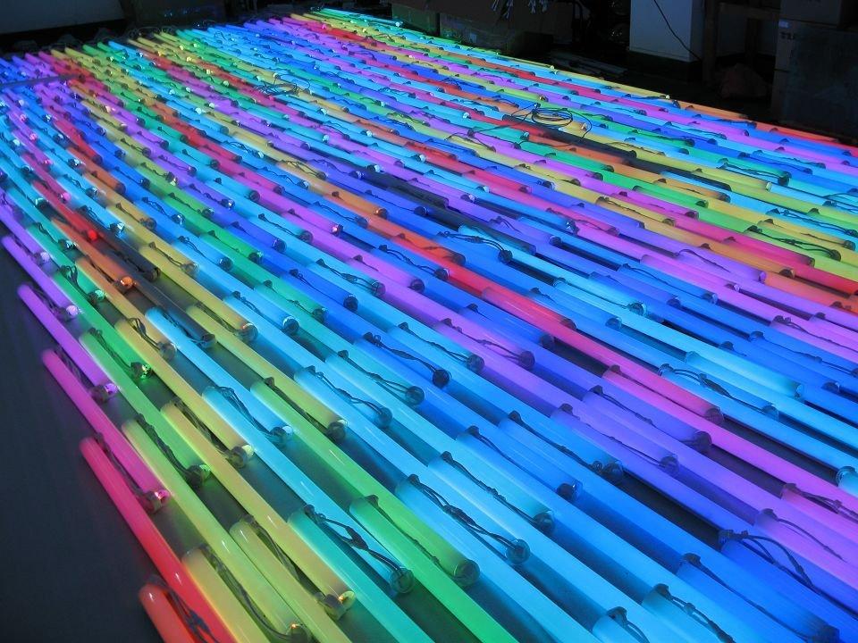 6 Pixels/M full color RGB LED Digital Tube,TM1809 IC,9W 108pcs Led,IP65 with Aluminum Base 50 pcs /LOT(China (Mainland))