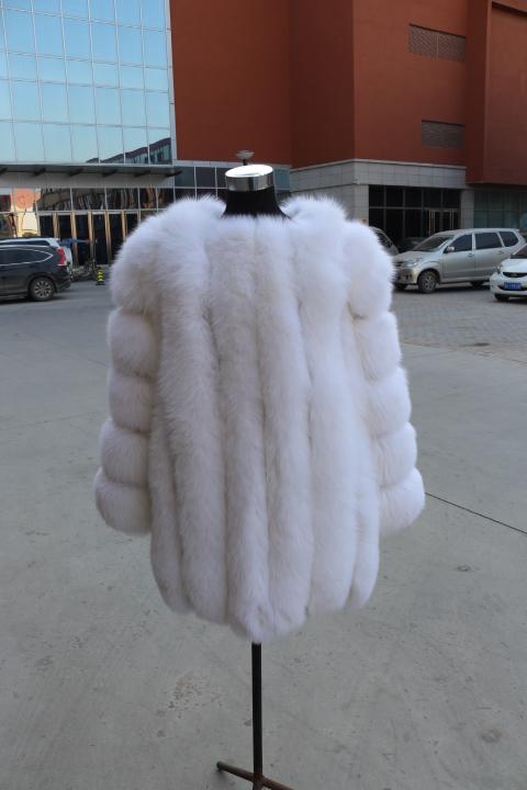 80 cm long White fox fur coat real fur jacket women winter fur clothing Одежда и ак�е��уары<br><br><br>Aliexpress