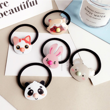 Buy Korean cute cartoon rubber band acrylic Panda rabbit cat Elastic Hair Bands girl kids gum Hair Rubber Bands Hair Accessories for $1.99 in AliExpress store