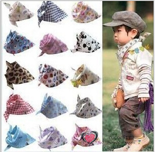 20 typs 2014 Baby Kid Toddler Bandana Baby Bibs Saliva Towel Dribble Triangle boy girls cotton Head Scarf(China (Mainland))