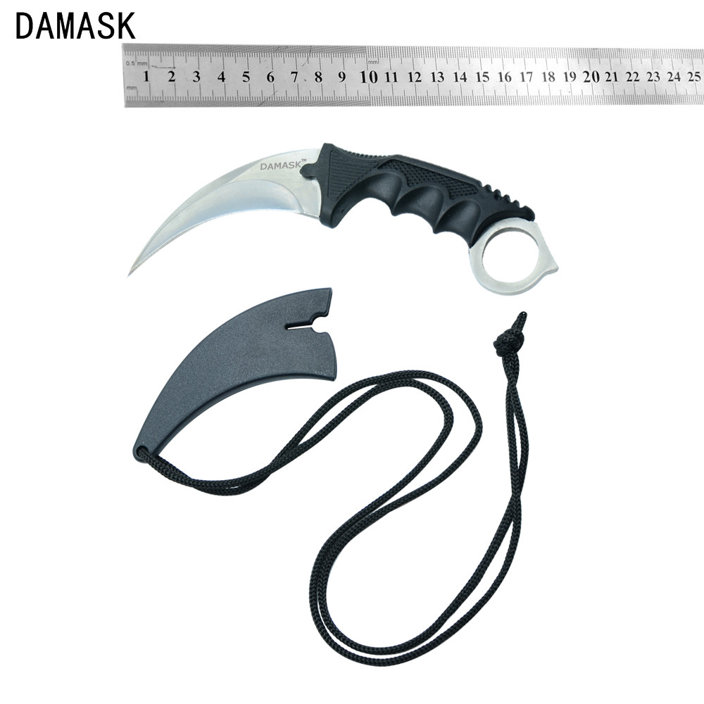 New Fixed Blade Stainless Steel Knife Damask Brand CS GO Counter Strike karambit Knife 1pcs Outdoor Camping Knife Best Gifts(China (Mainland))