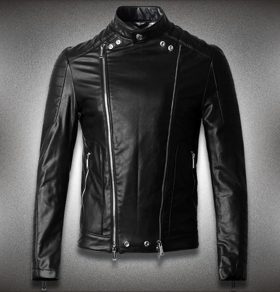 Black winter stand collar double zipper mens leather jackets and coats motorcycle clothing male fashion modern urban M - 3XLОдежда и ак�е��уары<br><br><br>Aliexpress