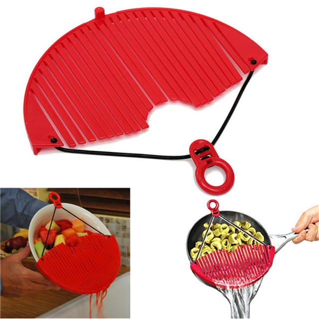 Multifunctional Kitchen Pot Pan Drainer Expandable Strainer Sieve Colander Water Filter Kitchen Accessories cook tool