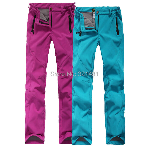 ++ Winter Softshell Hiking Pants Women Fleece Skiing & Camping Pants Trousers Woman Outdoor Sports Pants Female Hunting Pants(China (Mainland))