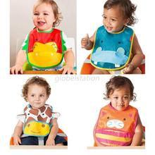 Cute Cartoon Print Baby Bibs Infants kids Saliva Towel Lunch bibs Waterproof