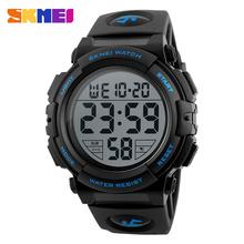 Buy High Original SKMEI MEN LED Digital Watches 50M Big Dial Shock Chrono Calender Alarm Clock Man Relogio Masculino 1258 for $9.85 in AliExpress store