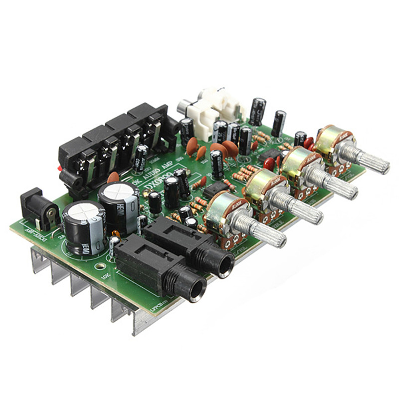 New Arrival Electronic Circuit Board 12V 60W Hi Fi Stereo Digital Audio Power Amplifier Volume Tone Control Board Kit 9cm x 13cm(China (Mainland))