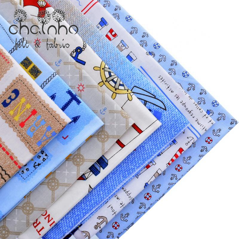Cotton Fabric Textile For Quilting Needlework DIY Scrapbooking Cloth For Doll Skirt Sheets Bags For Ocean Style 7 Design 40x50cm(China (Mainland))