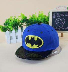 New 2015 Baby Boys Girls Snapback Hats Caps Baseball Cap Kids Children Batman pattern Hats Beanies 3-8 Years(China (Mainland))