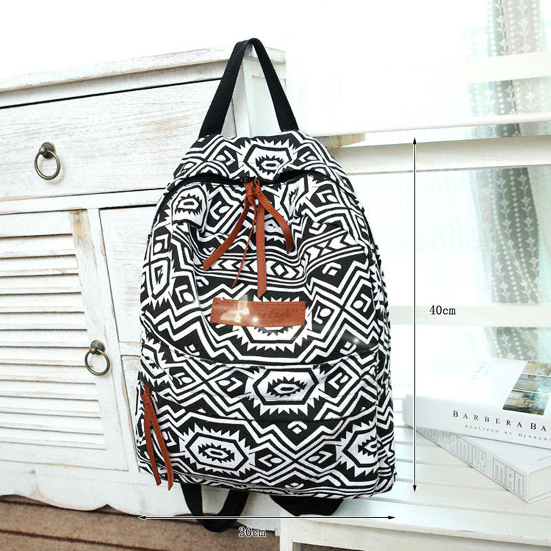 Brand 2015 Fishon Backpacks For Teenage Girls Travel Bag School Bags For girls School Printing Cotton Women Canvas Backpack