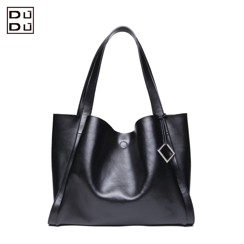 DUDU The New Tote Series Solid Genuine Leather Shoulder Bag/Totes(China (Mainland))