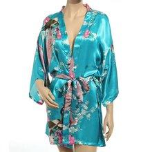 Plus Size S-XXL Bathrobe and Belt Pajama Women Japanese Yukata Kimono Satin Silk Vintage Robe Sexy Lingerie Hot Geisha Sleepwear(China (Mainland))