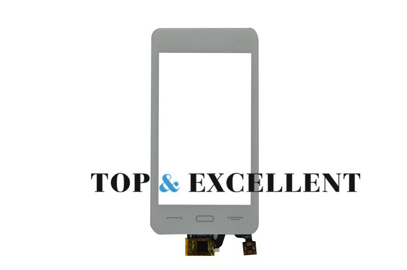 White Mobile Phone Parts Replacement For Fly E190 4.5'inch Front Touch Sensor Screen Digitizer Glass Panel