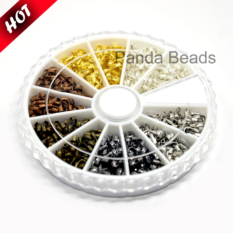 1Box 6 Colors Brass Wire Guardian Wire Protector Jewelry Component Findings, Mixed Color, 5x4x1mm, Hole: 0.5mm; about 540pcs/box(China (Mainland))