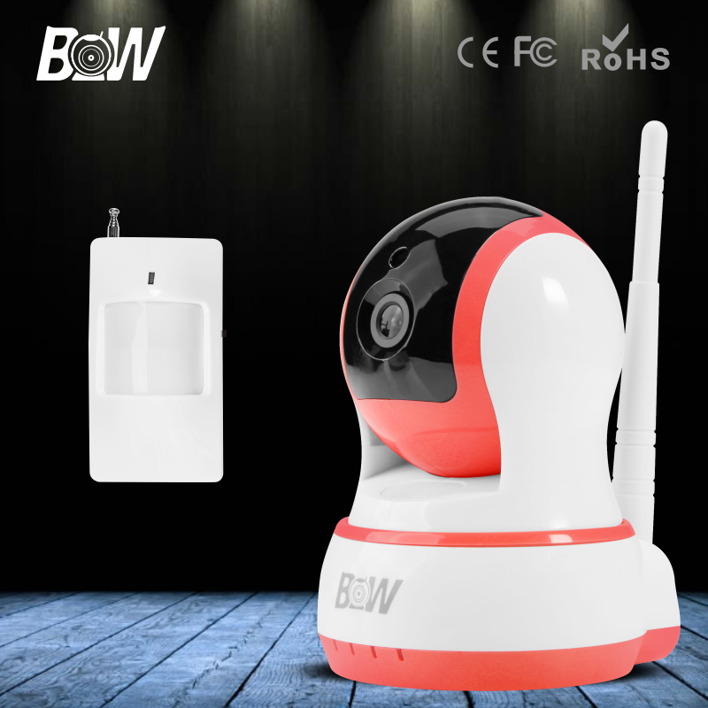 BW HD 720P Mini IP Camera Wireless Wifi Onvif Could Video Security CCTV Infrared Motion Sensor IR Alarm Smart P2P Baby Monitor(China (Mainland))