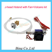 3D Printer J-head Hotend with Fan for 0.4mm 1.75mm 12v E3D v6 Direct Filament Wade Extruder 0.6/0.8/1.0/1.2mm Nozzle+Volcano kit