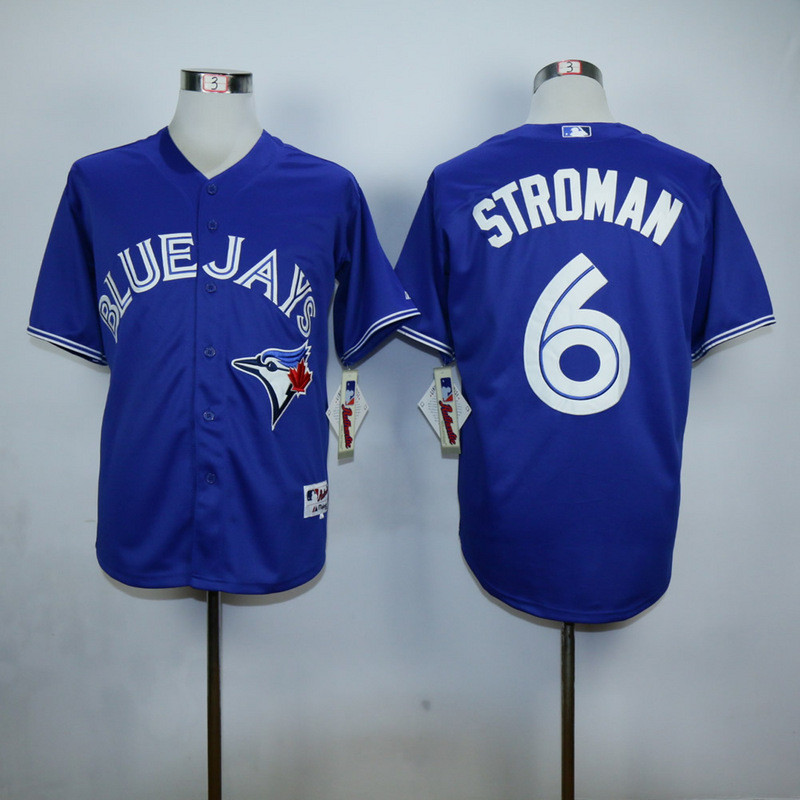 high quality Toronto Blue Jays mens baseball Jersey 6 Marcus Stroman color bule red white gary(China (Mainland))