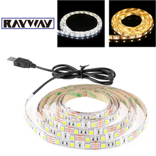 Buy 50CM 1M 2M 5M USB LED Strip Light 5V 5050 SMD IP65 Waterproof Warm / Cool White Flexible TV Background Lighting Strip Car light for $5.74 in AliExpress store