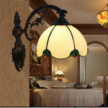 Tiffany wall lamp, European style Baroque wall lamp ,20cm wall mounted tiffany light for balcony,bedroom, corridor TEN-W-007(China (Mainland))