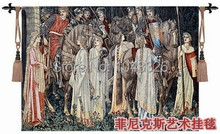 140*100cm Holy grail war knight antiqu cotton fabric picture home decoration wall hangings tapestry PT-55(China (Mainland))