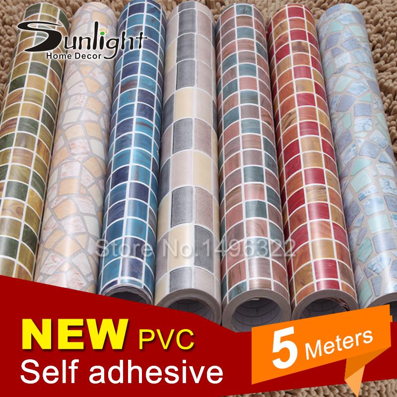 Buy 5m modern waterproof pvc wall paper for Vinyl waterproof wallpaper
