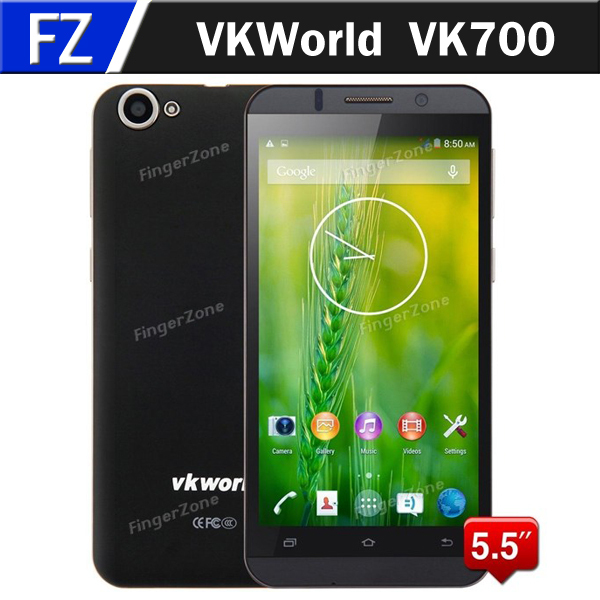 """In Stock VKWorld VK700 5.5"""" IPS HD Anroid 4.4 MTK6582 Quad Core 3G 5.5 Inch Unlocked Cell Mobile Phones 13MP CAM 1GB RAM 8GB ROM(China (Mainland))"""