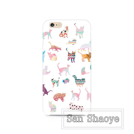 Variety of colorful painted dog and cats play with hobby for iphone 4/4s/5/5s/5c/6/6plus Cover Case Skin(China (Mainland))